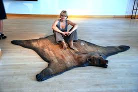 faux bear skin rugs noel homes exotic rug today fake with head for bear skin