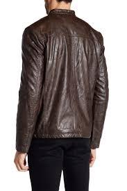 kenneth cole new yorkfaux fleece lined faux leather jacket