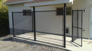 black vinyl privacy fence. Black Vinyl Coated Chain Link Kennel Privacy Fence