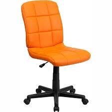 fergie armless office chair orange