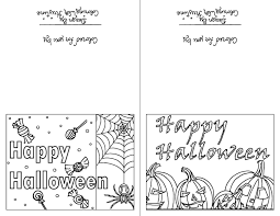 Let your child do the coloring. Color Your Own Halloween Cards Set Of Two Instant Download Holiday Crafts Creative Cards Holi Coloring Holiday Cards Halloween Cards Holiday Greeting Cards