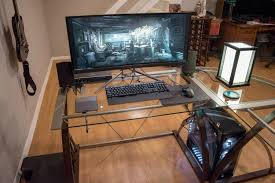 of course glass desks present a massive problem when it comes to cable management unless you re going for that post dystopian techno sci fi look of