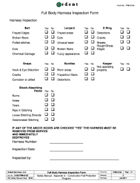 Equipment inspection form apc form 107628 equipment inspection report. Full Body Harness Inspection Checklist Pdf Fill Out And Sign Printable Pdf Template Signnow