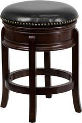 10000 was 12500 24u0027u0027 backless cappuccino wood counter height stool with black leather swivel seat yourbarstoolstore counter high stools n31