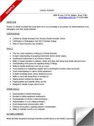 dental assistant resume sample certified dental assistant resume