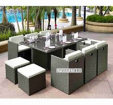pukaki 11 pc outdoor dining set