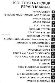 1981 toyota pickup truck repair shop manual factory reprint 1983 Toyota Pickup Wiring Diagram covers all 1981 toyota pickup truck models this book measures 8 5\
