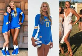 6'4″ (193 cm) tall college volleyball player Sabrina Smith – Beer Money  Pizza