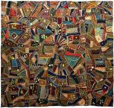 Wool Crazy Quilt, c. 1900, unknown maker, Eastern United States ... & Wool Crazy Quilt, c. 1900, unknown maker, Eastern United States Adamdwight.com