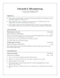 Resume Templates In Word Format Resume Sample Source