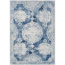 bungalow rose arteaga distressed vintage blue and white area rug stunning area rugs