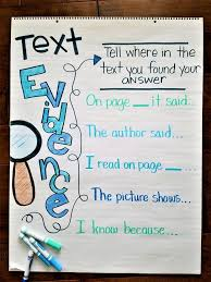 Citing Evidence Anchor Chart Guided Reading Level K Guided Reading Levels Reading