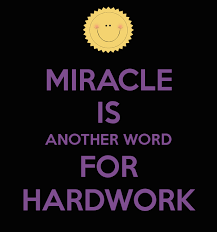 Another Word For Violet Miracle Is Another Word For Hardwork Poster Sweetjellybean Com