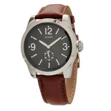 guess mens watches uk watches store part 2 guess leather w10248g2 gents pink leather stainless steel case watch