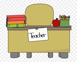 teacher desk clipart.  Teacher Classroom  Table Clipart Teacher Desk For
