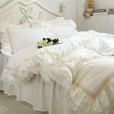 Luxury Embroidery bedding set beige lace ruffle duvet cover ... & Luxury Embroidery bedding set beige lace ruffle duvet cover wedding  decorative textile bed sheet Coverlets elegant Adamdwight.com