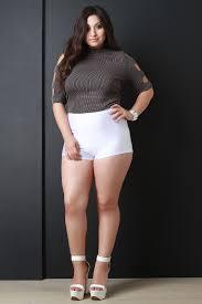 Urbanog Plus Size Size Chart Plus Size High Waisted Shorts Urbanog