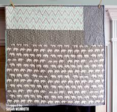 a little bit of me.: {Aqua Elephants - A Modern Baby Quilt} & Aqua Elephants Baby Quilt backing - Susan Weinroth Adamdwight.com