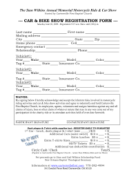 printable registration form template car show registration form templates word excel samples