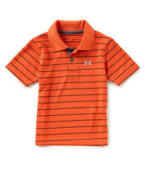under armour shirts for boys. under armour baby boys 12-24 months playoff striped polo shirt shirts for