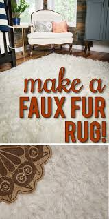How to make a DIY Faux Fur Rug View Along the Way
