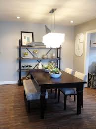 dining room furniture bench and chairs cozy kahrs flooring with dark table plus linear chandelier quorum
