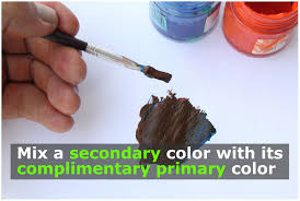 how to make brown color acrylic paint