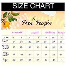 Free People Skirt Size Chart