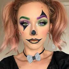 cute and simple clown makeup idea