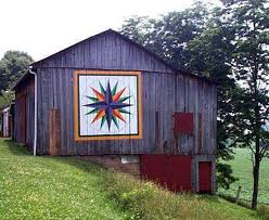 312 best Barn quilts images on Pinterest | Res life, Quilt ... & Quilt Barn. Mariner's Compass Quilt Pattern: the first quilt block to be  painted near Adamdwight.com