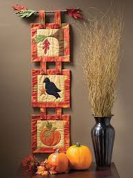 Best 25+ Quilted wall hangings ideas on Pinterest | Mini quilts ... & A cute fall-themed trio to add to your autumn decoration. When displayed  together, these three mini quilts make the perfect wall hanging ... Adamdwight.com