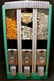 Nut Vending Machine Amazing ANTIQUEPENNYCOINOPDIVIDEDINTO48SEPARATECHOICESPEANUTVENDING