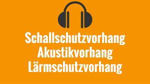 Schallschutzvorhang Akustikvorhang Lärmschutzvorhang Livestream