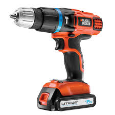 black and decker lithium drill. black \u0026 decker cordless 18v 11ah li-ion combi drill 1 battery bdh18k | departments diy at b\u0026q and lithium