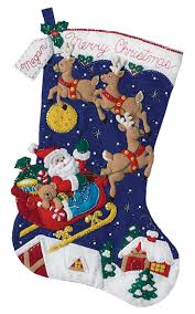 Handmade Christmas Stockings 216 Best Bucilla Felt Christmas Stockings Images On Pinterest