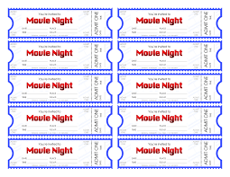 printable movie ticket clipart clipart kid make your own movie night tickets
