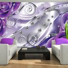 Innenarchitektur : Kleines Tapeten Lila Farbe Wandgestaltung ...