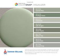 gray green paintSHERWIN WILLIAMS ACIER  Natural wood flooring White trim and