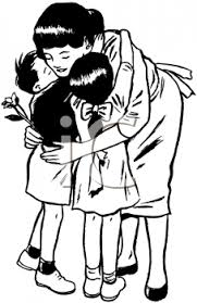 hug clipart black and white. pin hug clipart mothers day #1 black and white h