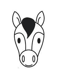 horse head coloring page colouring pages horse head coloring page