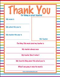 Teacher Appreciation Week Thank You Letter Super Cute What