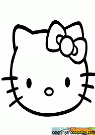 Coloring is a fun way for kids to be creative and learn how to draw and use the colors. Hello Kitty Face Coloring Pages Coloring And Coloring Coloring Home