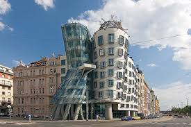 Interesting Postmodern Architecture Gehry House Prague Czech Republic To For Modern Ideas