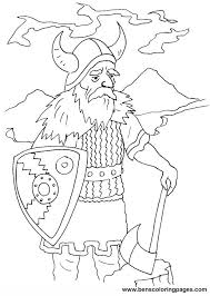 Small Picture Viking coloring pages for kids