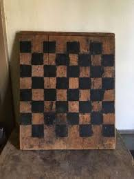 Antique Wooden Game Boards WonderfulAntiqueWoodGameBoardforCheckersHandMadeAll 38