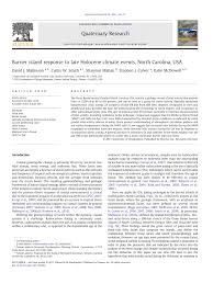 Pdf Barrier Island Response To Late Holocene Climate Events