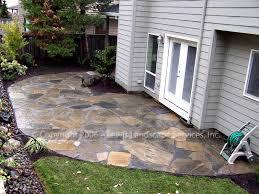 loose flagstone patio. Elegant Flat Rock Patio Lewis Landscape Services Beaverton Oregon Flagstone Slate Loose