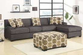 gray fabric sectional sofa. Amazon.com: 3 Pieces Faux Linen Sectional Sofa With Ottoman (Ash Black): Kitchen \u0026 Dining Gray Fabric