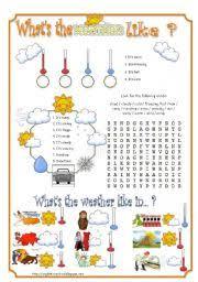Describing The Weather Esl Worksheet By Olindalima F