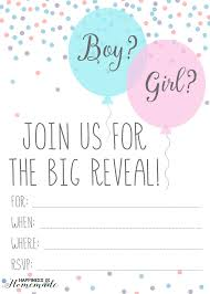 Party Invites Templates Free Free Gender Reveal Printables 17 Free Gender Reveal Invitation